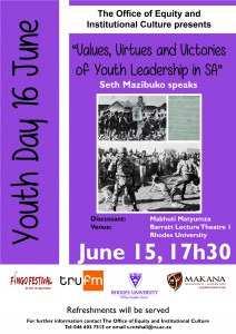 Values, Virtues and Victories of Youth Leasdership in SA